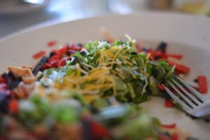 Assiette de légumes verts
