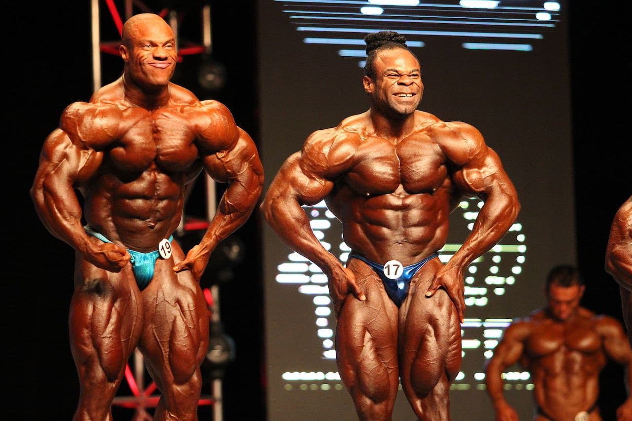Phil Heath et Kai Greene à Las Vegas en 2012