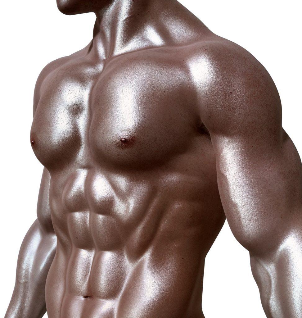 Athlète aux muscles saillants