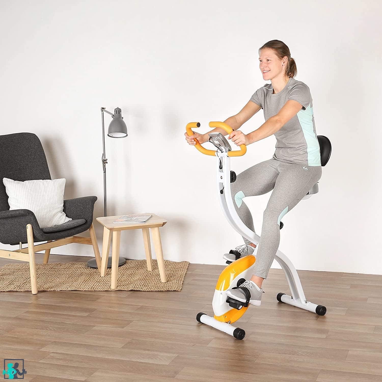 entrainement sur un vélo d'appartement