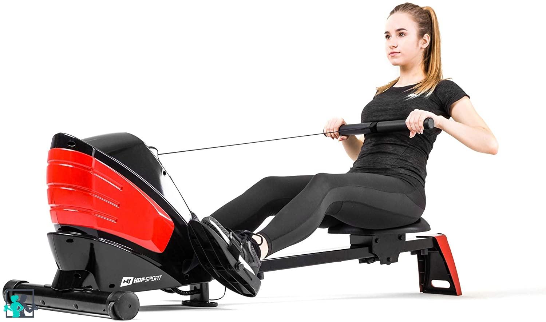 exercice sur rameur