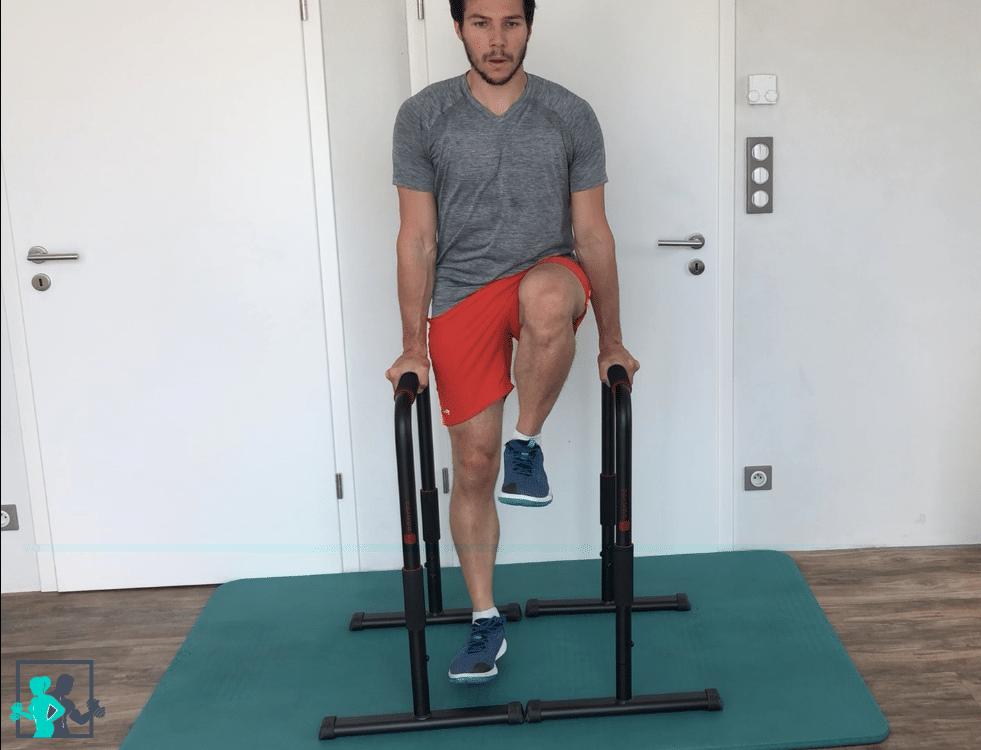 hanging leg raises niveau 1